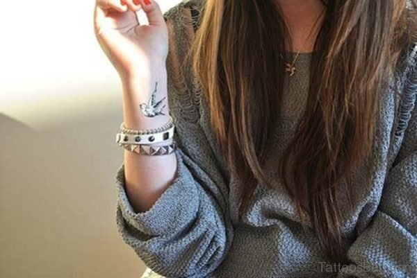 Swallow Tattoo On Wrist For Girls
