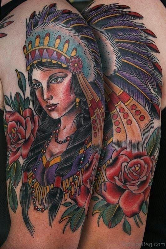 Sweet American Native Tattoo
