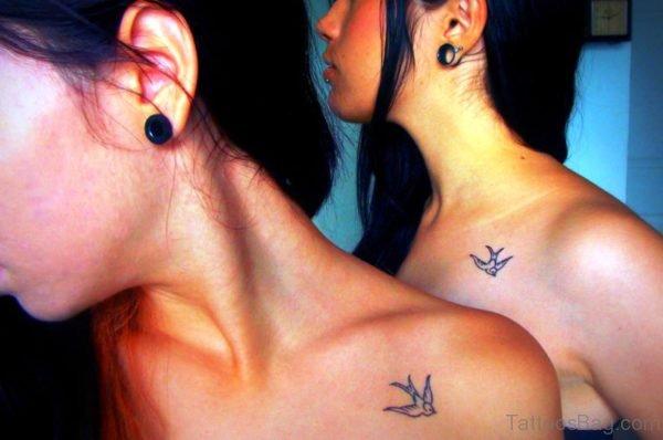 Sweet Bird Tattoo Design On Left Shoulder