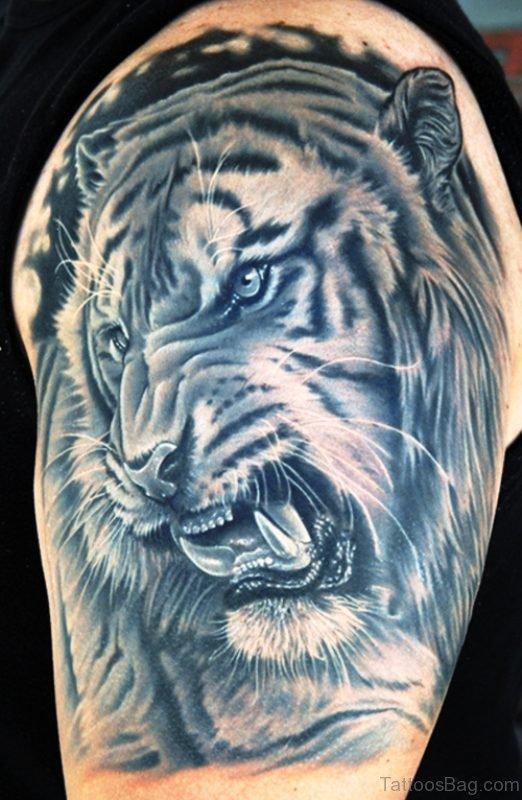 Sweet Black Tiger Tattoo