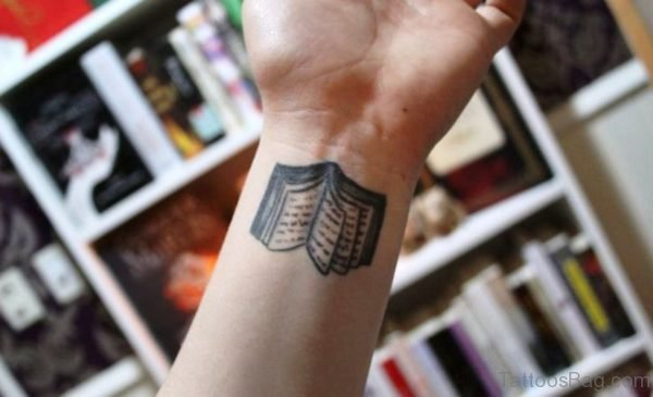 Sweet Book Wrist Tattoo