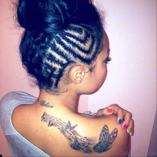 Sweet Butterflies Designer Tattoo