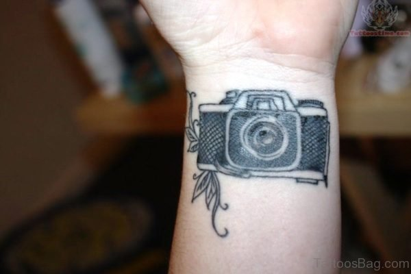 Sweet Camera Wrist Tattoo