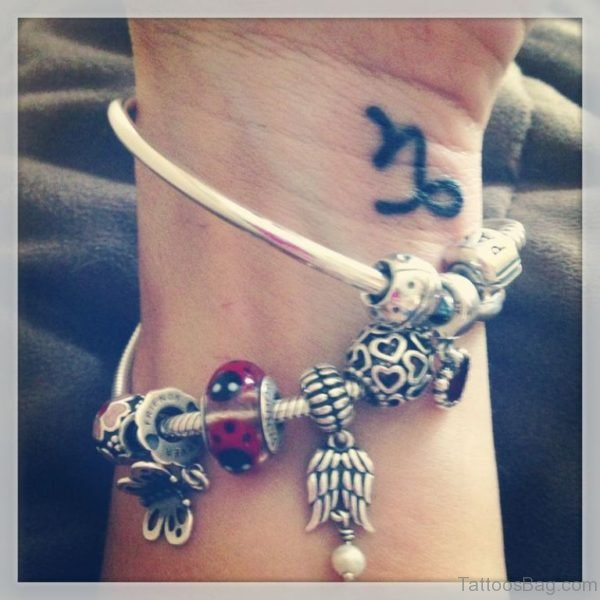 Sweet Capricorn Tattoo On Wrist