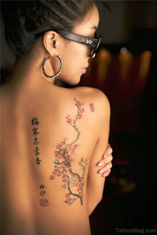 Sweet Cherry Blossom Tree Designer Tattoo