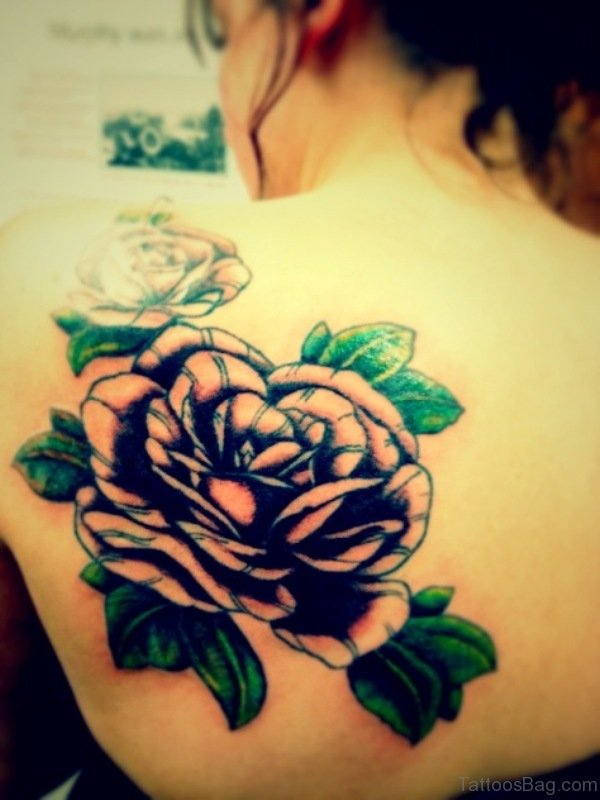 Sweet Flower Shoulder Blade Tattoo Design