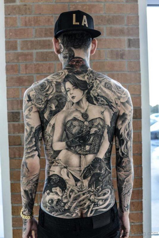 Sweet Geisha Girl Tattoo