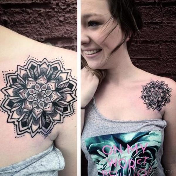 Sweet Girl Showing Her Mandala Tattoo