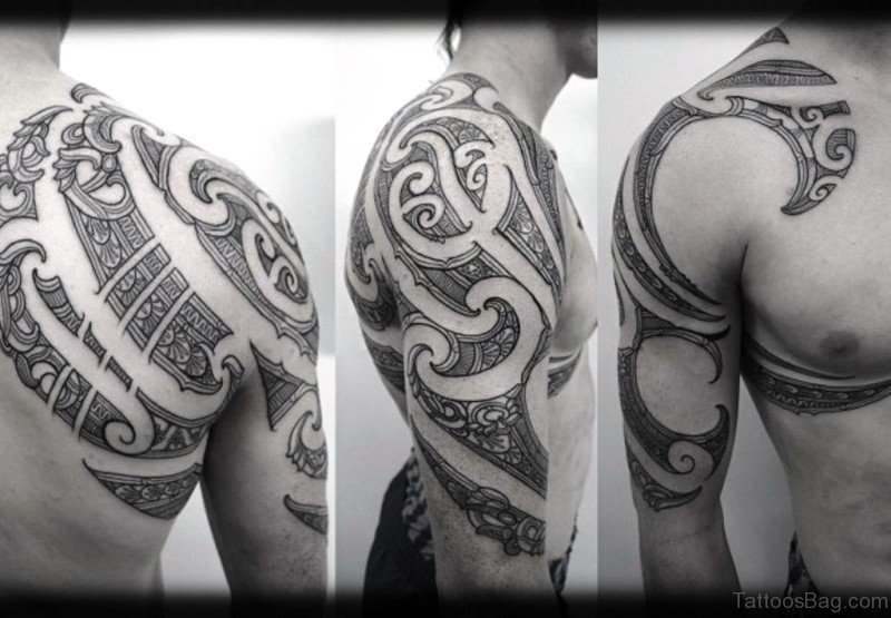49 popular maori tattoos on shoulder. Black Bedroom Furniture Sets. Home Design Ideas