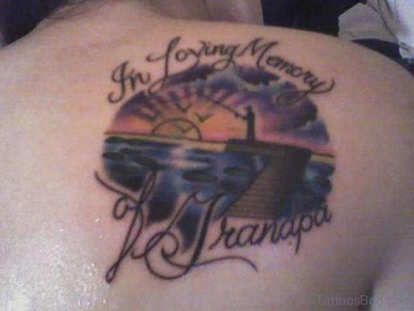 Sweet Memorial Grandpa Tattoo Design