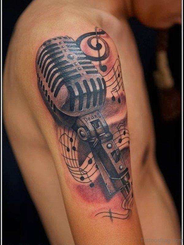 Sweet Music Tattoo Design