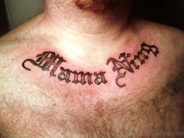 Sweet Name Letter Tattoo On Neckltrs382