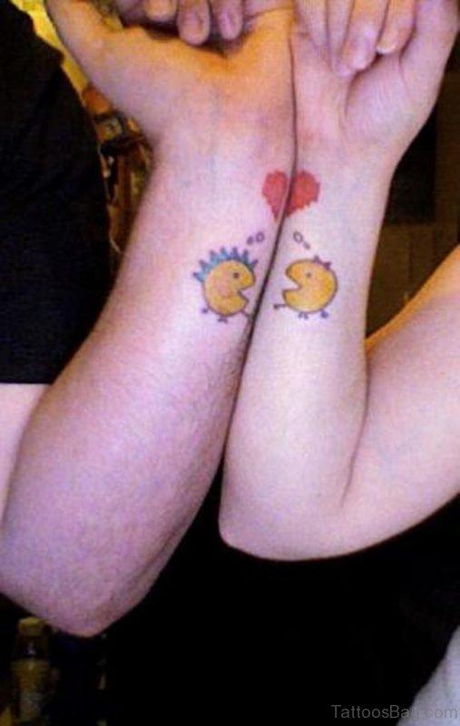Sweet Pacman Wrist Tattoo