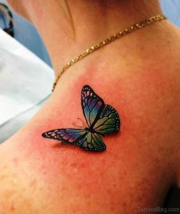 Sweet Realistic Tattoo On Shoulder