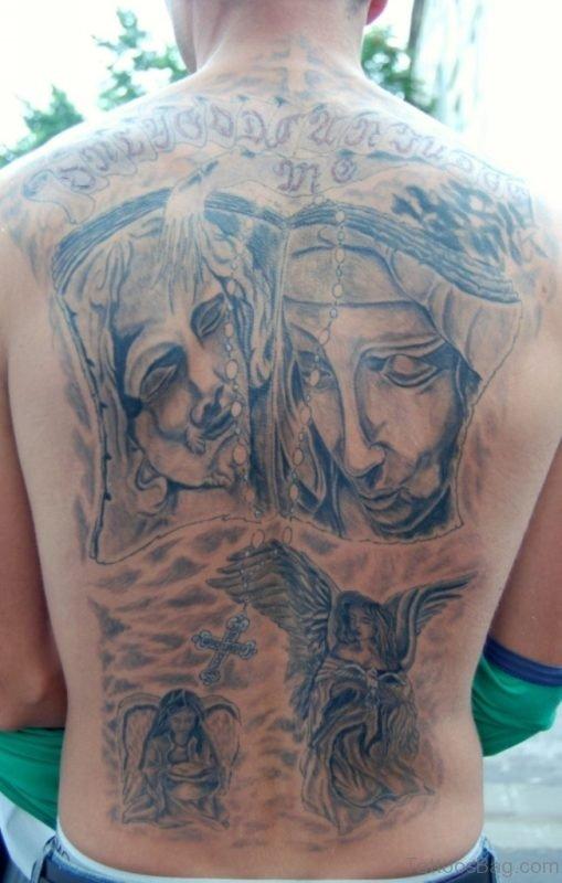 Sweet Religious Tattoo On Neck