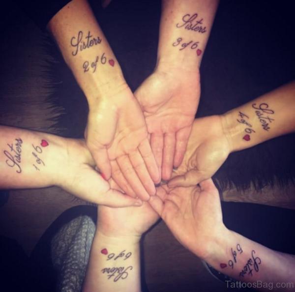 Sweet Sister Tattoo On Wrist