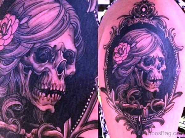 Sweet Skull Aztec Tattoo Design
