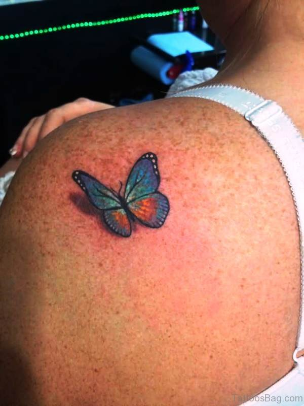 Sweet Small Butterfly Tattoo