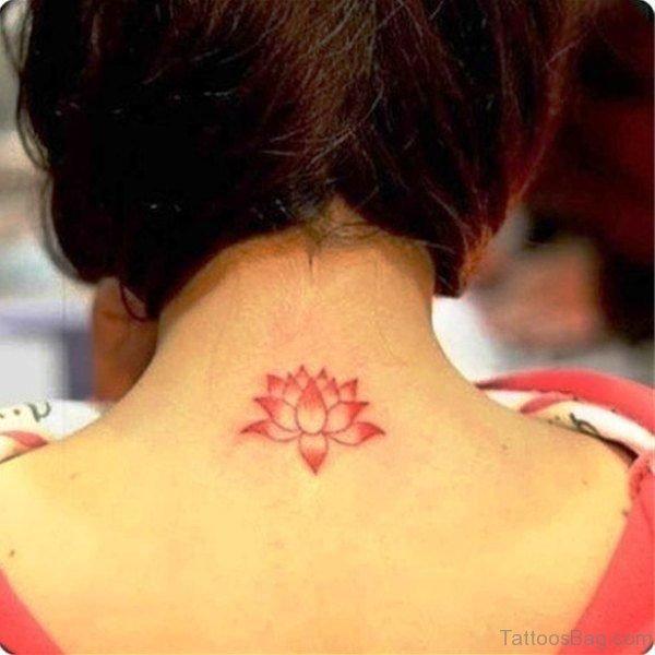 Sweet Small Red Lotus Tattoo