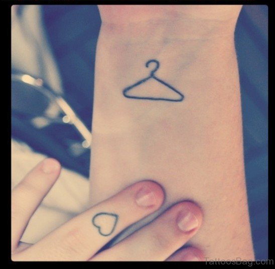 Sweet Small Triangle Wrist Tattoo