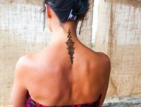 Sweet Tiny Tattoo On Neck