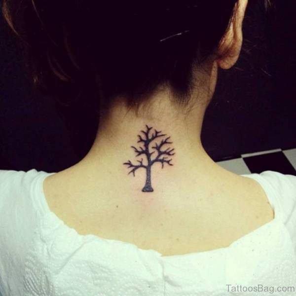 Sweet Tree Neck Tattoo