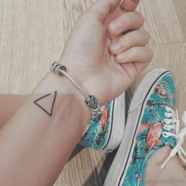 Sweet Triangle Wrist Tattoo