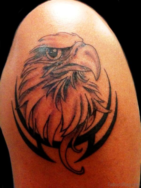 Sweet Tribal Eagle Tattoo