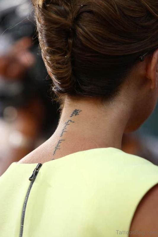 Sweet Wording Tattoo On Neck