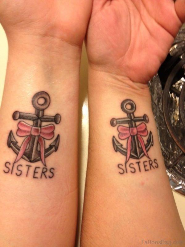 Sweet Sisters Tattoo On Wrist