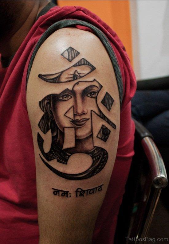 Symbol And Buddha Tattoo