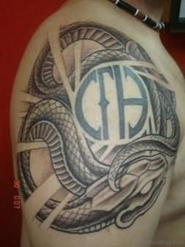 Symbol And Snake Tattoo