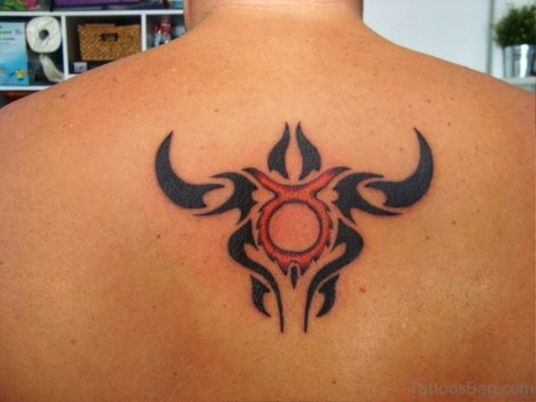 Taurus Zodiac Bull Head Tattoo Design