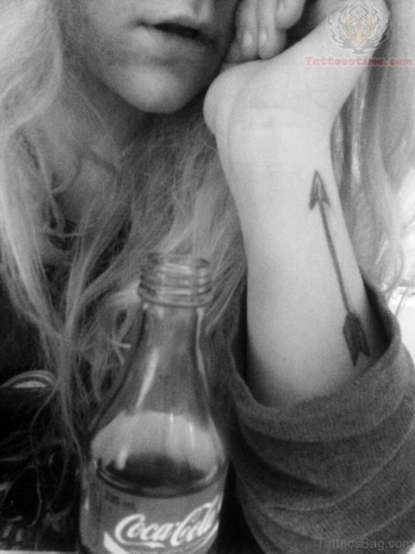 Terrific Arrow Tattoo On Arm