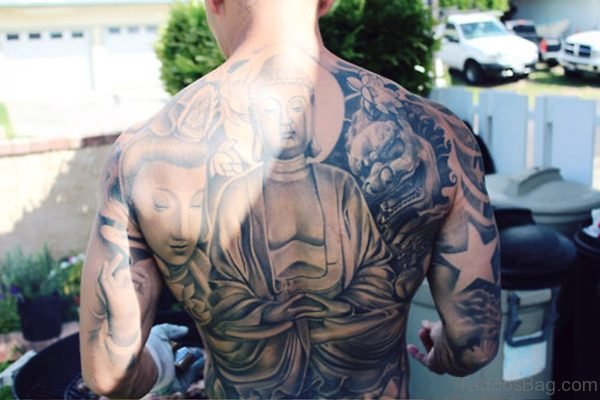 Terrific Buddha Tattoo Design 1