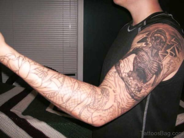 Terrific Buddha Tattoo Design