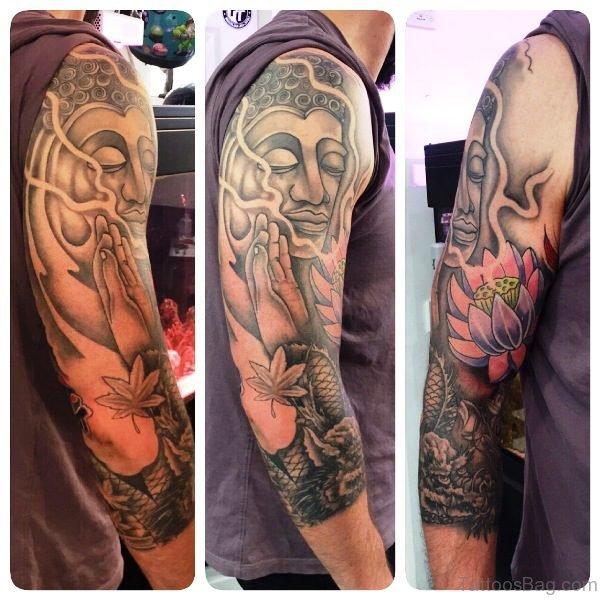 Terrific Buddha Tattoo Full Sleeve