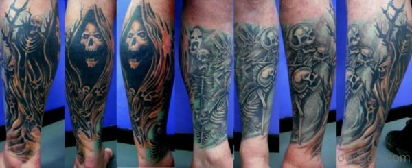 Terrifying Alien Skull Tattoo