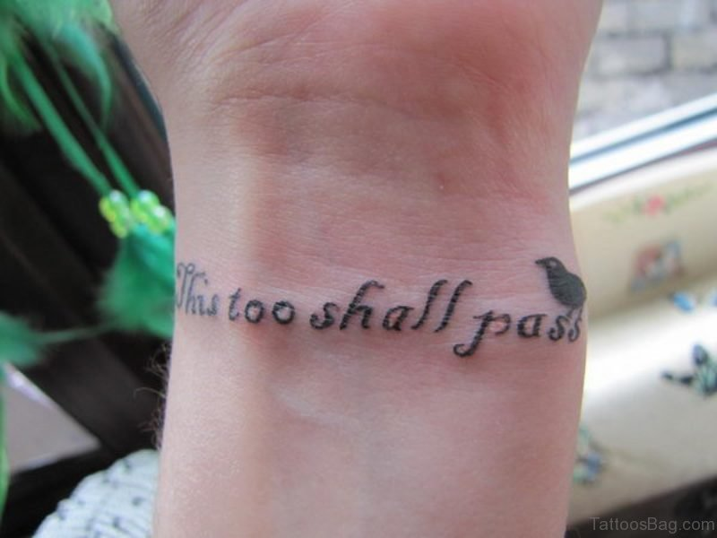 41 pleasant quote tattoos on wrist for Quote wrist tattoos