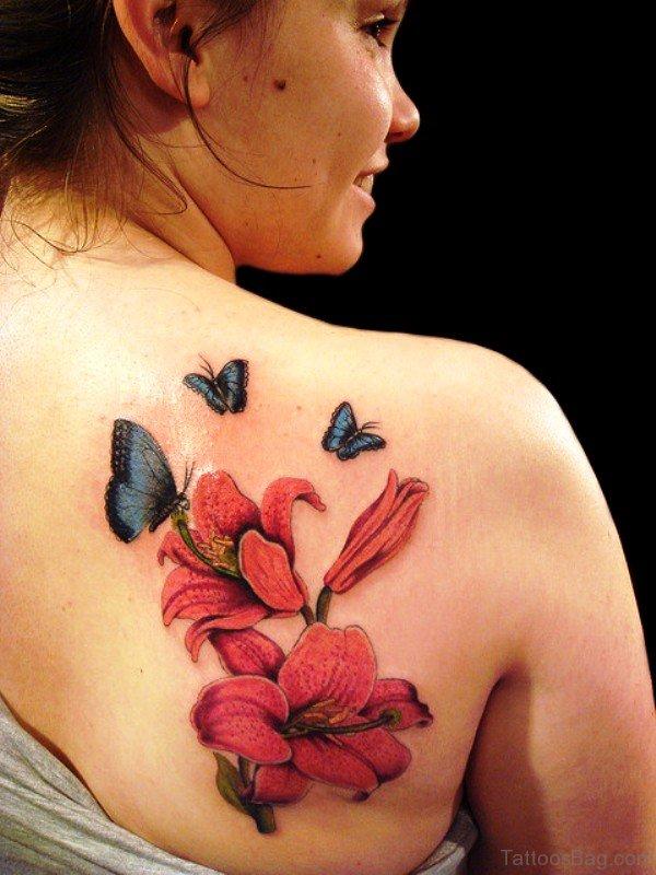 Three Butterfly Tattoo Design