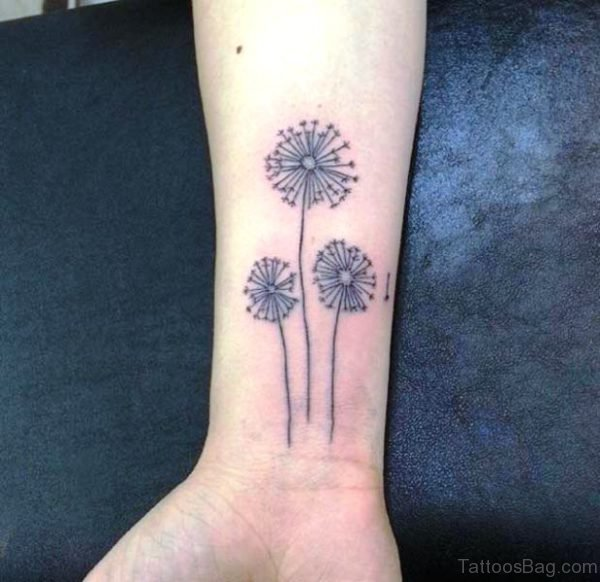 Three Dandelion Wrist Tattoo