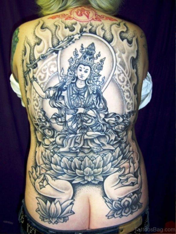63 spectacular buddha tattoos on back. Black Bedroom Furniture Sets. Home Design Ideas