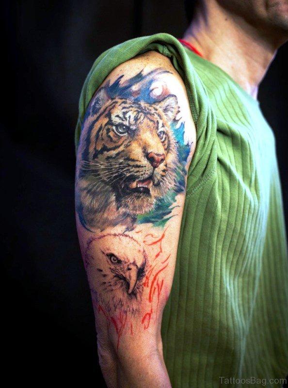 Tiger And Eagle Tattoo