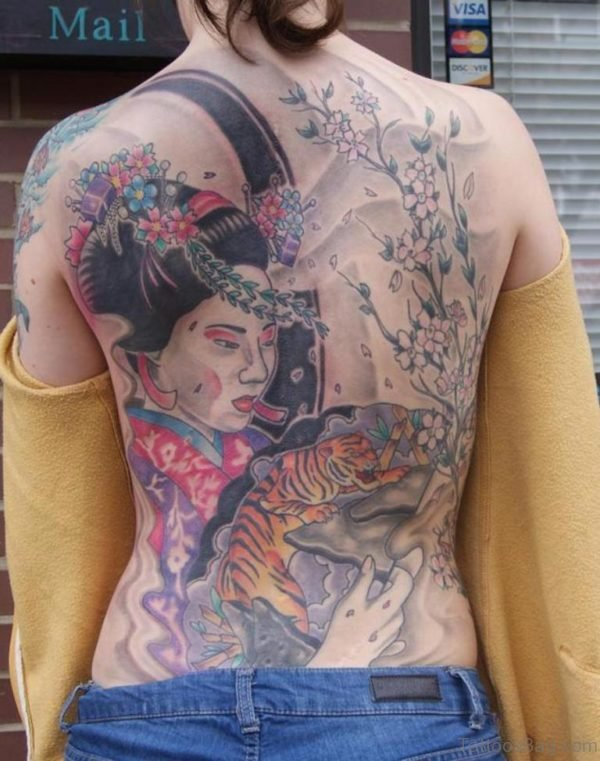 Tiger And Geisha Tattoo
