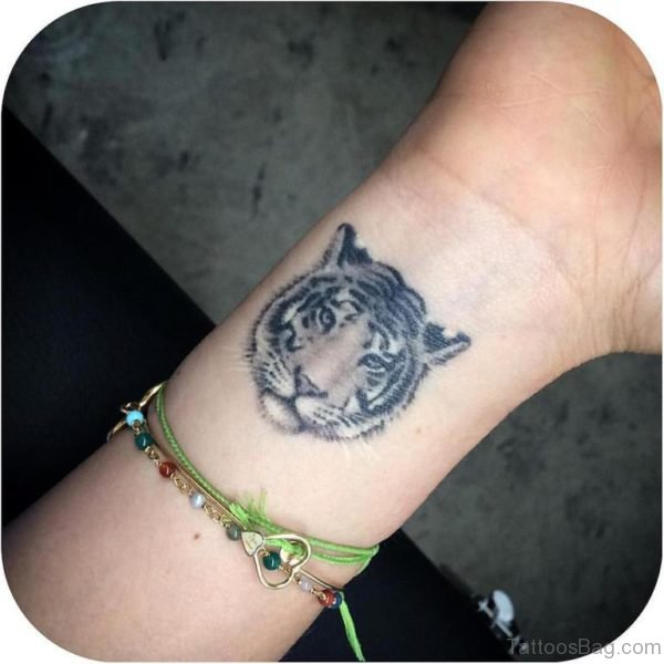 Tiger Wrist Tattoo Design