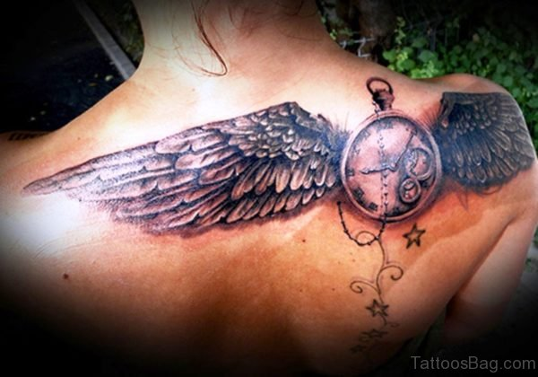 Time Wings Tattoo Design