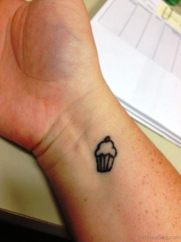 Tiny Cupcake Tattoo