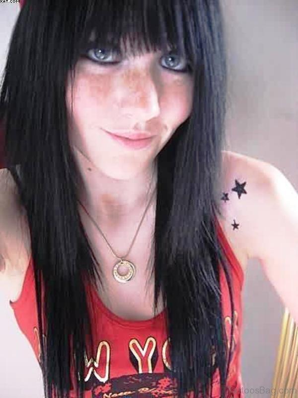 Tiny Star Shoulder Tattoo