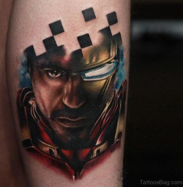 Tony Stak Portrait Tattoo