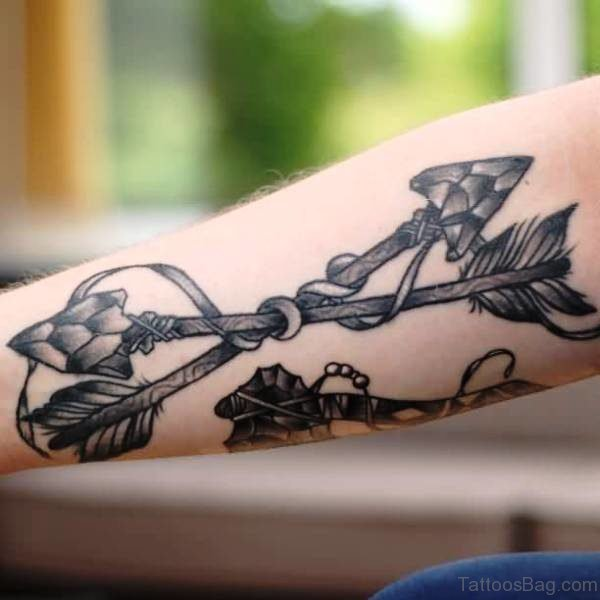 Traditional Arrow Tattoo On Arm